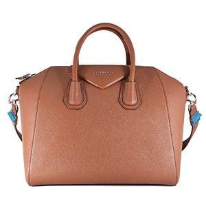 Givenchy Medium Antigona Cognac Leather Satchel